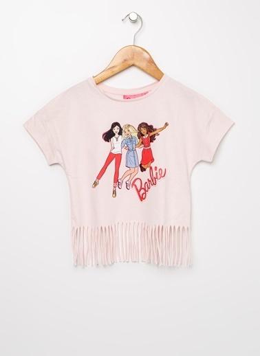 Barbie Bisiklet Yaka Tişört Pembe